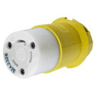 Hubbell Shore Power Locking Connector Body Yellow 32A 230V