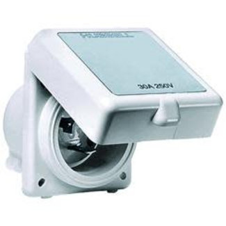 Hubbell Shore Power Inlet Non-Metallic White 16A 230V