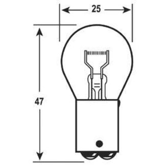 Pirates Cave Value Bayonet Bulb 12V 21W BA15D