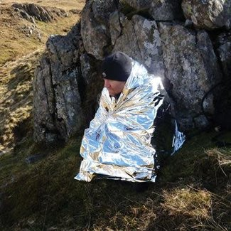 Pirates Cave Value Foil Hypothermia Blanket