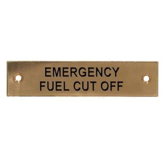 Aquafax Emergency Fuel Cut Off Label