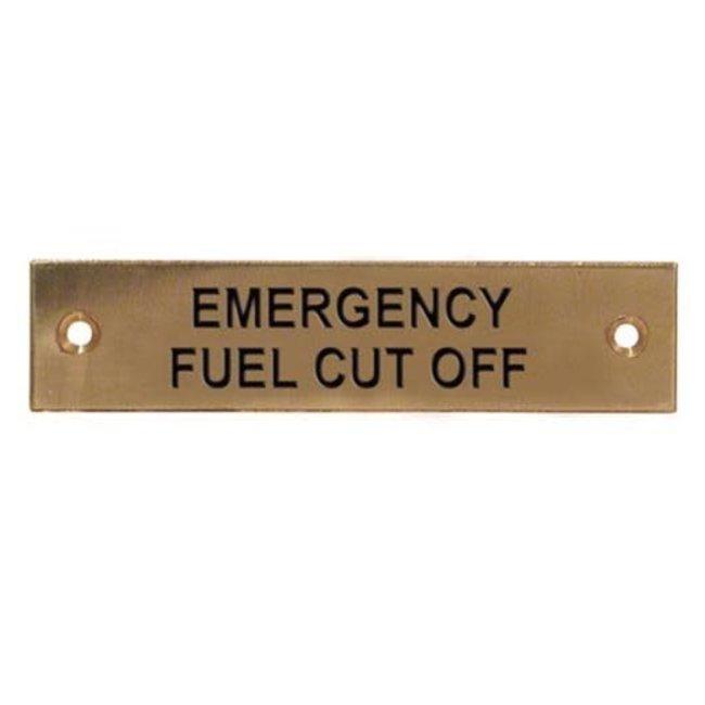 Emergency Fuel Cut Off Label
