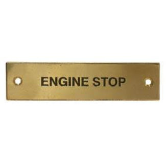 Aquafax Engine Stop Label