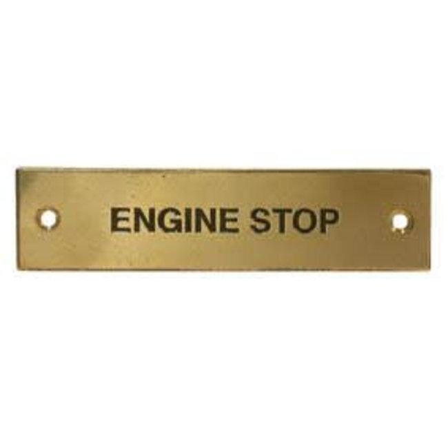 Engine Stop Label