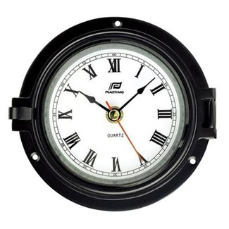 "Plastimo Plastimo 4.5"" Clock Black Case"