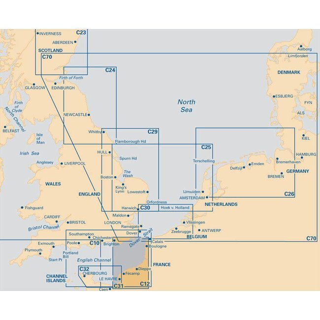 C31 Imray Dover Strait To Le Havre
