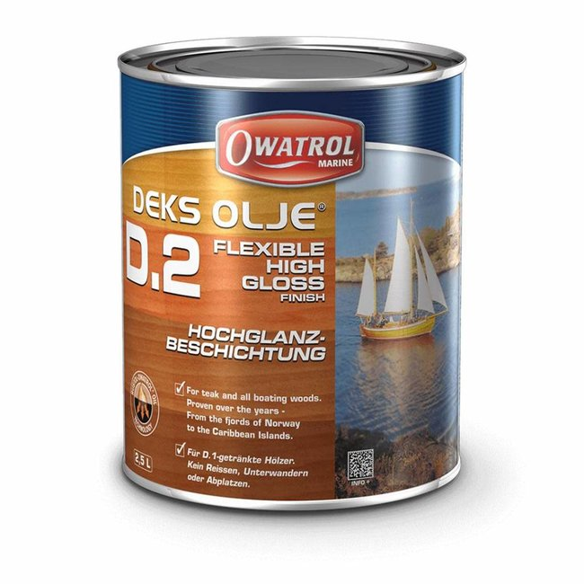 Owatrol Deks Olje D2 High Gloss Finish Coat 1L