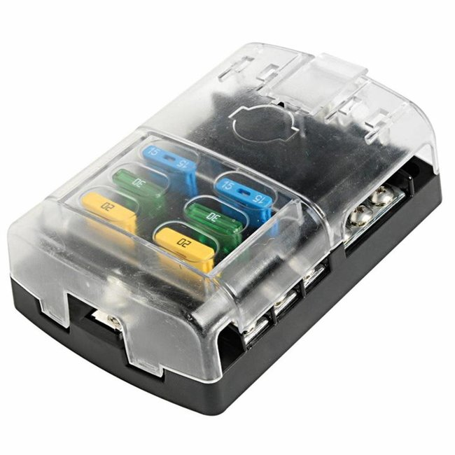 Pirates Cave Value Fuse Holder Box with Transparent Snap Cover
