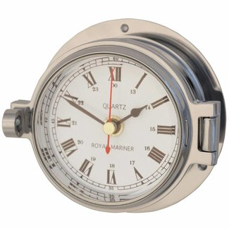 "Channel Range Polished Chrome Clock 3"""