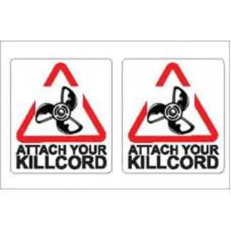 Nauticalia Nauticalia Attach Your Killcord Label (Small) Sticker
