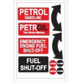 Nauticalia Nauticalia Petrol Shut-Off Label (Large) Sticker