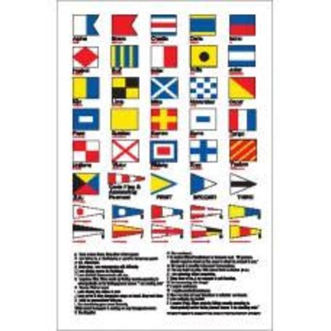 Nauticalia Signal Flags Label (Large) Sticker