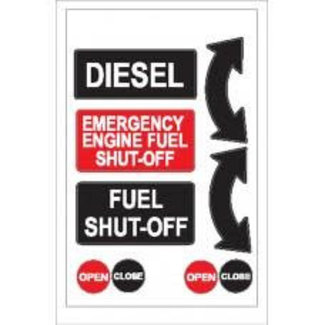 Nauticalia Nauticalia Diesel & Fuel Shut-Off Label (Large) Sticker