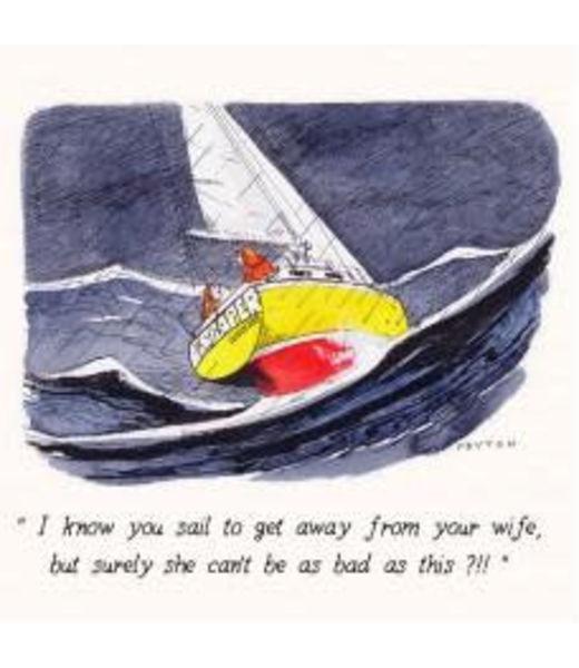 Peyton Greetings Card - I Know You Sail