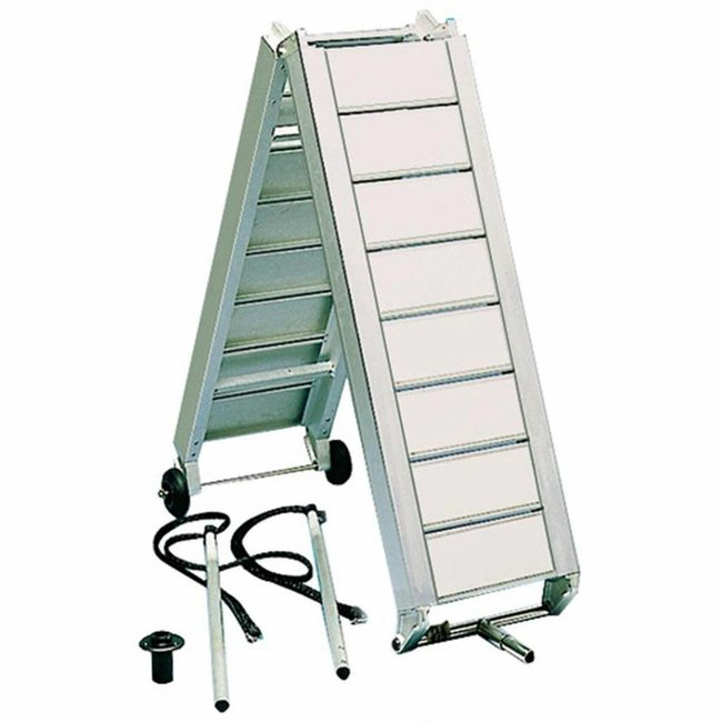 Anodised Light Alloy Folding Gangway with Oversized Stringers