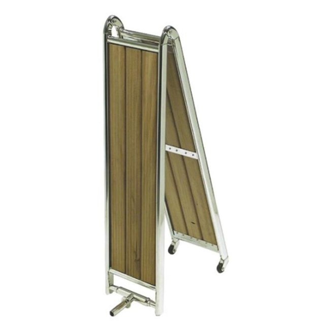 Mirror Polished AISI 316 S/S Folding Boarding Ladder