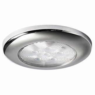 Osculati Polished Stainless Steel LED Round Recessless Courtsey Light