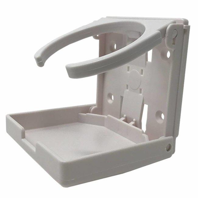 Folding Drink Cup Holder Adjustable (White)