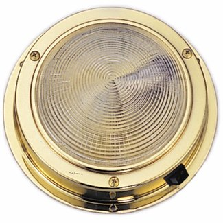 Pirates Cave Value LED Dome Light Laquered Brass 3""