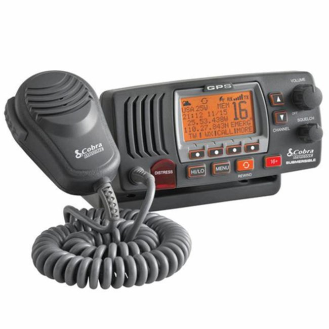 Cobra MR F77 Fixed Mount VHF Radio with GPS
