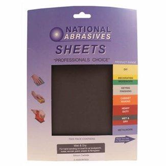 National Abrasives National Abrasives Wet & Dry Aluminium Oxide Sheets (25 Pack)