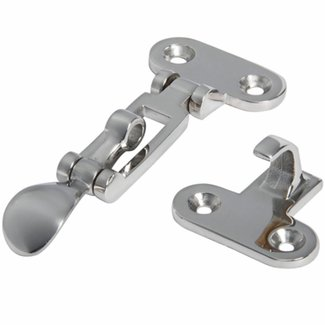 Pirates Cave Value Lever Closure Chromed Brass Locker Latch 105 x 50mm