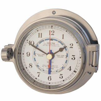 Channel Channel Range Polished Chrome Tide Clock