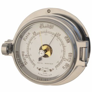 Channel Range Polished Chrome Barometer 3""