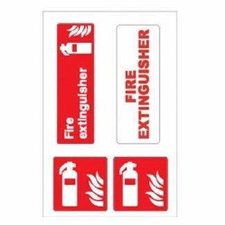 Nauticalia Nauticalia Fire Extinguisher Label (Large) Sticker