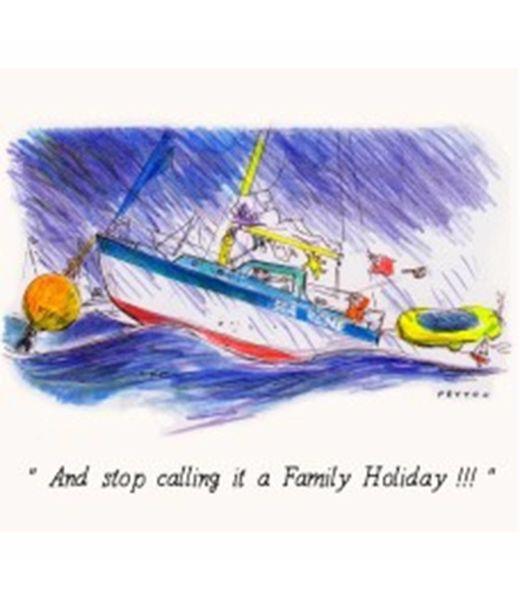 Peyton Greetings Card - Family Holiday