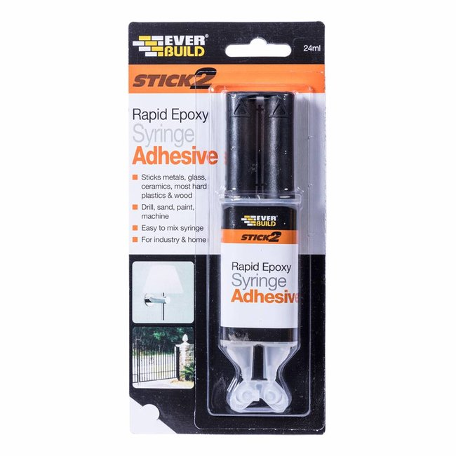Everbuild Stick 2 Rapid Epoxy Syringe Adhesive 24ml