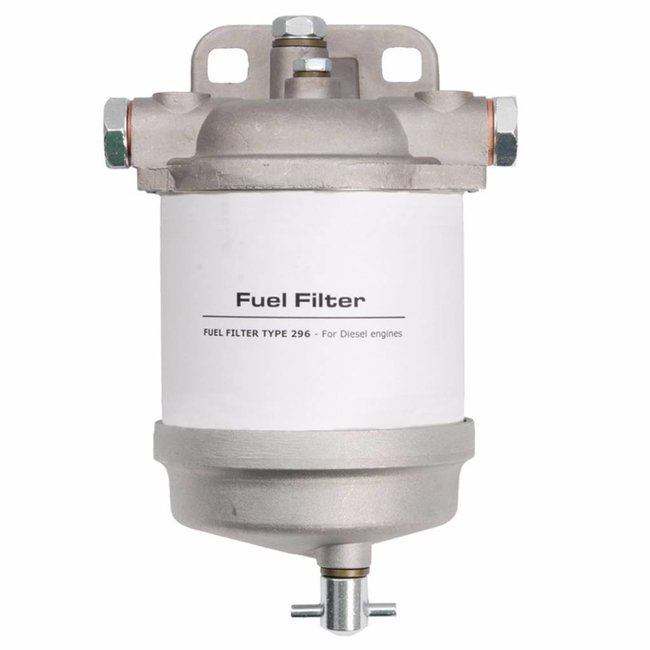 Diesel Fuel Filter CAV Type 296 with Drain (Delphi Replacement)