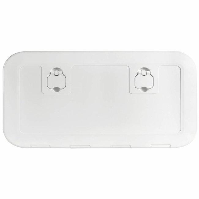 Flush Inspection Hatch White 600 x 350 (Cut 530 x 280)