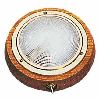 Osculati Polished Brass & Teak Dome Light