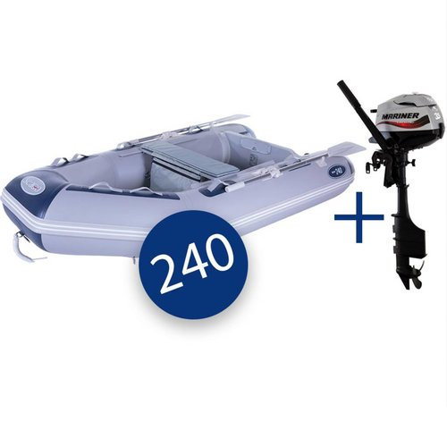 Seago Seago 240 Air Deck Inflatable Dinghy with Mariner 3.5hp Outboard Engine
