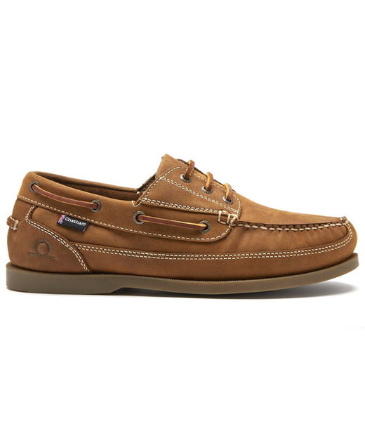 Chatham Chatham Rockwell II G2 Wide Fit Mens Deck Shoes Walnut 2019
