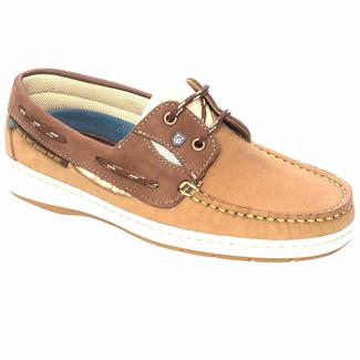 Dubarry Dubarry Crete Womens Deck Shoes Coffee/Cream