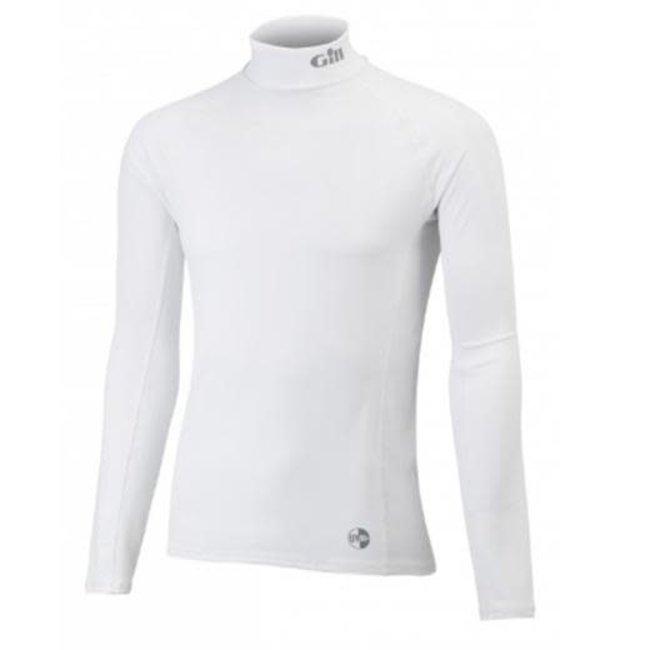 Gill Junior UV Long Sleeve Rash Vest White (Medium)