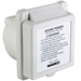 Marinco Inlet, 16A 230V, Square, White, With Label