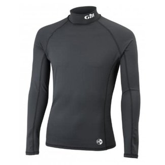 Gill Gill Mens UV Rash Vest Long Sleeve Black