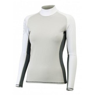 Gill Gill Womens Pro Rash Vest Long Sleeve Silver
