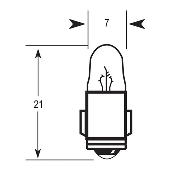 2 Lug Bulb 24V 3W BA7S