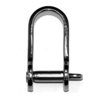 Pirates Cave Value Stainless Steel Strip Dee Shackle 8mm