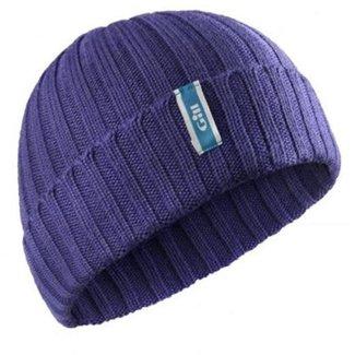 Gill Gill Wide Rib Knit Beanie Purple