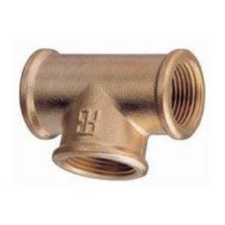 "Pirates Cave Value Brass Equal Tee 1/2"" BSP"