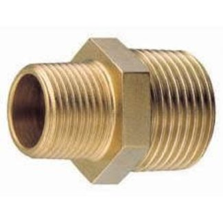 "Pirates Cave Value Unequal Brass Nipple 1 1/4""- 1""BSPT Carded"