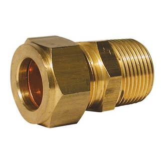 "Pirates Cave Value Male Stud Coupling 1/4"" x 3/8"" BSPT"