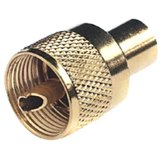 Glomex Glomex PL259 Connector Twist On Gold Plated For RG58  RA132GOLD