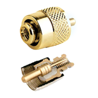 Glomex Glomex PL259 Connector Twist On Gold Plated Solderless for RG58 RA132SOLDERLESS