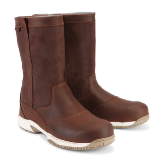 Main Deck Maindeck Waterproof Short Leather Sailing Boots Brown